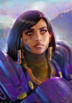 Pharah Portrait by fantasio