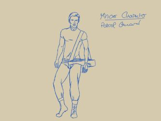 Concept Sketch Patrol Guard by HannaEsser