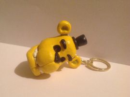 Five Nights At Freddy's: Golden Freddy Head Chain by Spectral-Beanie