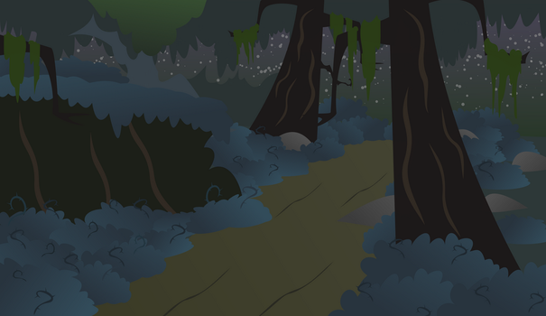 Everfree forest backgroun by Albert238391