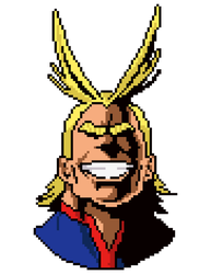 All-Might Pixel Art Head (Boku no Hero Academia) by nezz94