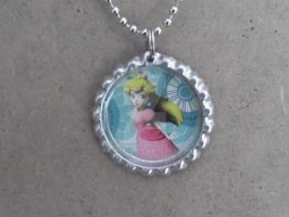 Princess Peach Necklace by Kashi-kun