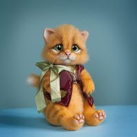 sold Needle felted kitten Antosha by trinnytoy
