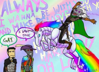 robot unicorn drizzt by shaydh