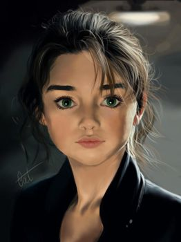 Portrait Study 1 by CoetArt