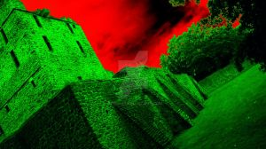 Bloody Sky Above The Ruin Altendorf by Griesli