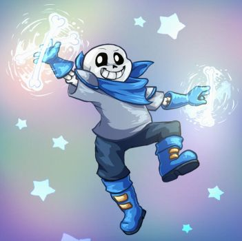 Contest Prize for ChibiMittens - Underswap Sans by LadyIcepaw