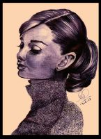 .::Audrey Hepburn::. by The-Pen-Freak