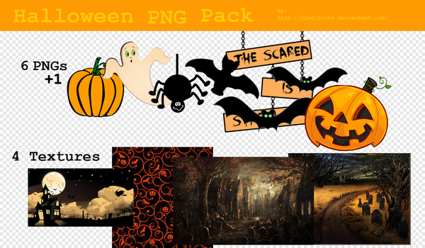128. Halloween PNG Pack by JLEditions