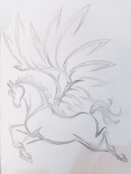 Winged Horse Tribal by Neomae