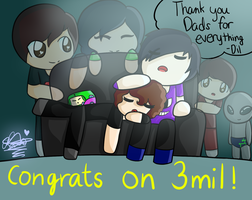 Congrats on 3mil Dan and Phil!!! by danandphiltrash-1