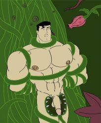 Superman Attacked by Plants by mchlsctt709
