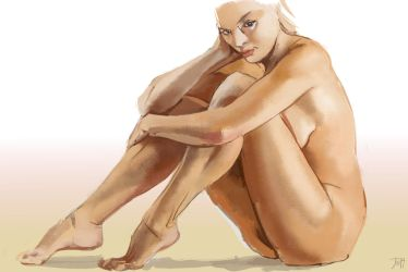 Fun-study-nude sitting by gothicAge