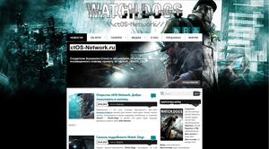 Watch_Dogs site design by Pateytos