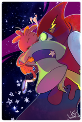 Starry kiss by SteamingOwl