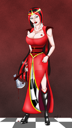 The Queen of Hearts revamped by darkartistrising