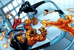 Who Would Win: Spidey Vs. FF by bennyfuentes