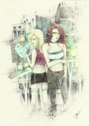 somebody like you:::art trade with Asano-san by mary-jane10
