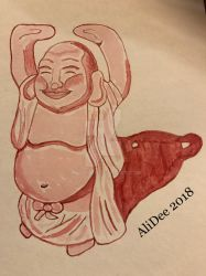 Happy Buddha by AliDee33