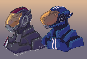 space dogs by lutniik