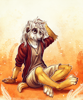 Messy Hair Meerkat by TasDraws