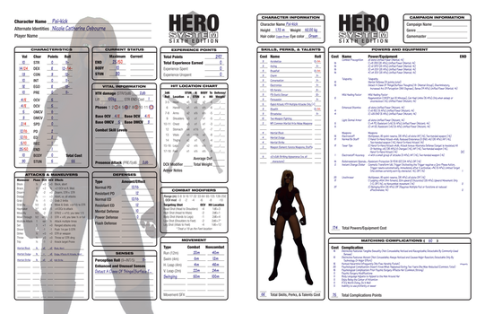 Psi-kick - Hero System 300 points by cptpatriot
