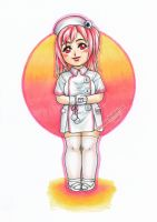 Little Miss Skull Nurse by Chromarin