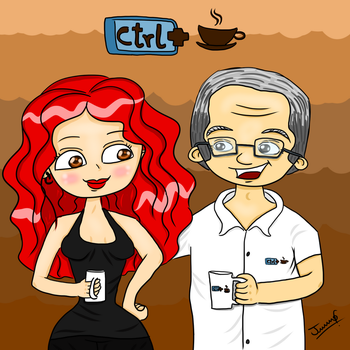 FanArt Ctrl + Cafe by TiaJeh