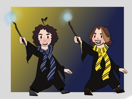 Game Grumps meet harry potter by Irish--Potato