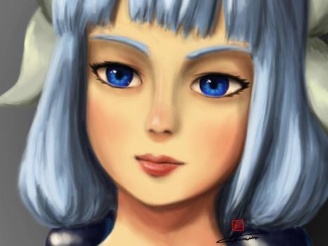Kanna (Realism Attempt) by reikwon