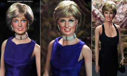 Princess Diana custom doll repaint by Noel Cruz by noeling