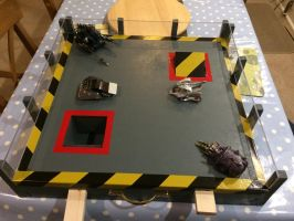 Robot wars arena play bench by scampy001