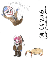 Stream sketches with heisters by lizathehedgehog