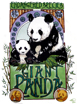 Giant Panda by Leggyslove