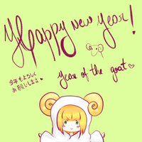 Year of the goat by Chocorabitsu