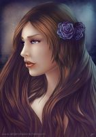Blue roses by Anhyra