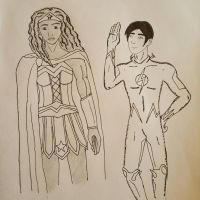 Wonder Woman and The Flash by Obiosborn