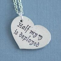 Half my heart is deployed - Necklace by MonsterBrandCrafts