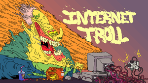 Internet Troll pixel art by bokuwatensai