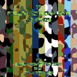 Modern Camouflage Brushes by silver-