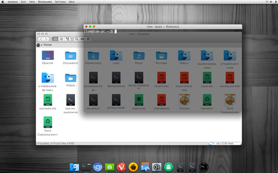 Be.shell KDE work in progress by CraazyT
