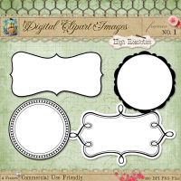 Journal Tags - Label Frames 1 by starsunflowerstudio