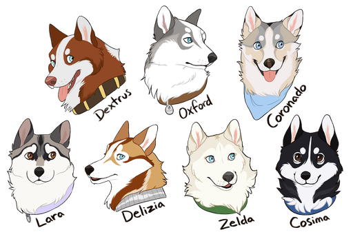 guys and gals by StargazerDogs
