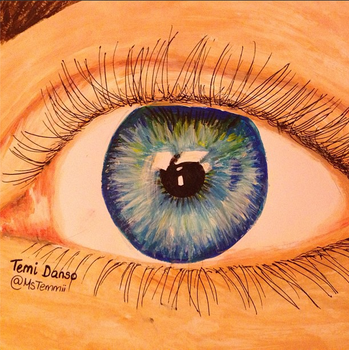 Eye Painting by MsTemmii