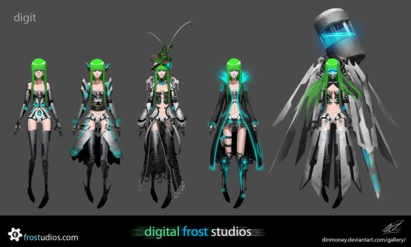 digit - costume variants by FROSTconcepts