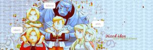 Ed, Al et Winry - Fixed Idea by Chapelierefolle