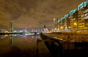 Glasgow Squinty Bridge River Clyde by BusterBrownBB