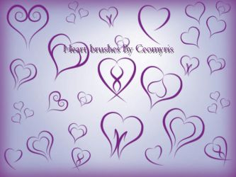 Heart Brushes by Ceomyris