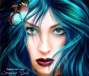 See Deep In My Blue Eyes by JassysART
