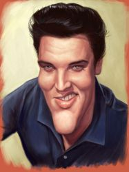 Elvis Presley by markdraws